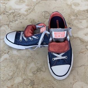 NWOT Converse All Star Glitter Denim/Pink Sneakers